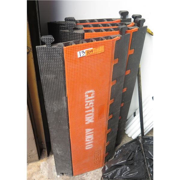 Qty 4 OSHA Approved 5 - Slot Cable Ramps