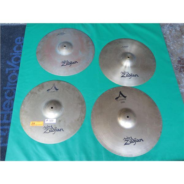 "Zildjian: ""A"" Custom 18"" & 19"" Crash, 17"" & 19"" Custom A Rock Crash, etc."