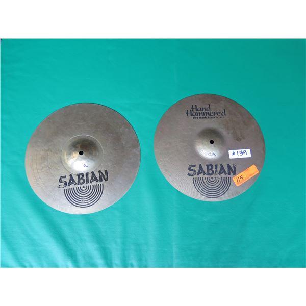 "Sabian Dark HH 14"" Cymbals  Top and Bottom"