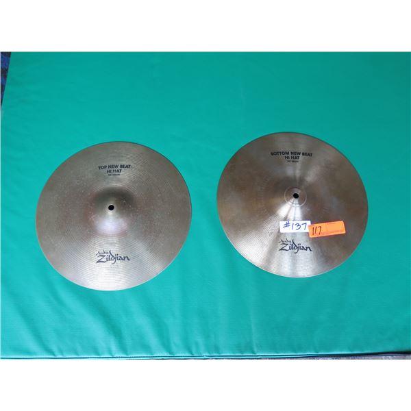 "Zildjian New Beat High Hats Cymbals 14""  Top and Bottom"