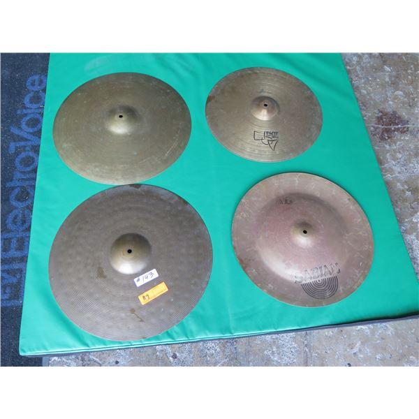"Cymbal Set:  Paiste 18"" Power Crash & 20"" Ride, Zildjian 20"" Ride, Sabian 18"""