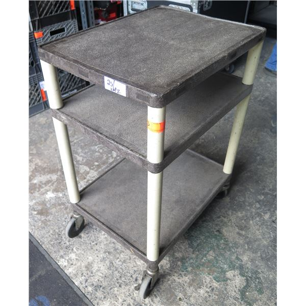 Molded Plastic AV Cart,2 Tier, on Wheels - can be dismantled for storage