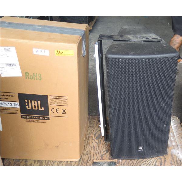 Demo Pair JBL AM7212/66 Black Large Room Speakers, Hi Power w/ U-Brackets