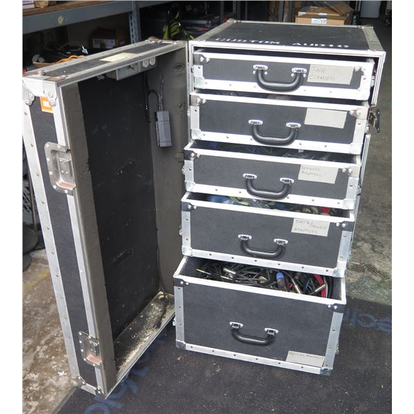 Large ATA Show Rack w/ Custom Drawers & Storage - Contents of Drawers Included