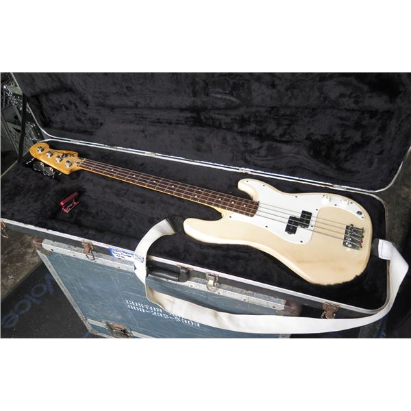 Fender Precision Bass Guitar 4 string w/strap and spare strings