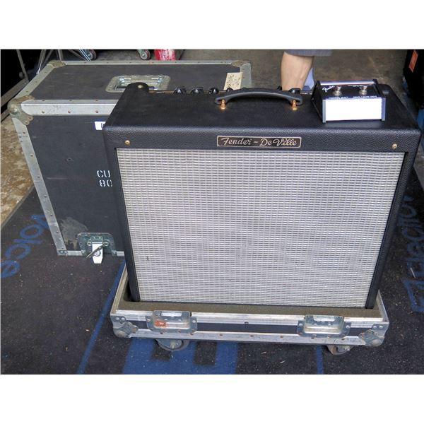 Fender DeVille 2x12 w/ Pedal Switch  In ATA Case