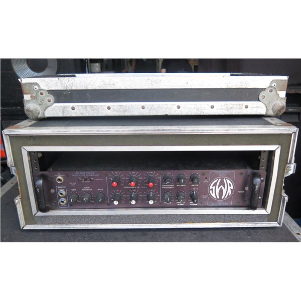 """SWR SM900 Touring Level Bass Head, In ATA Case, 1/4"""" Guitar Cables Included."""