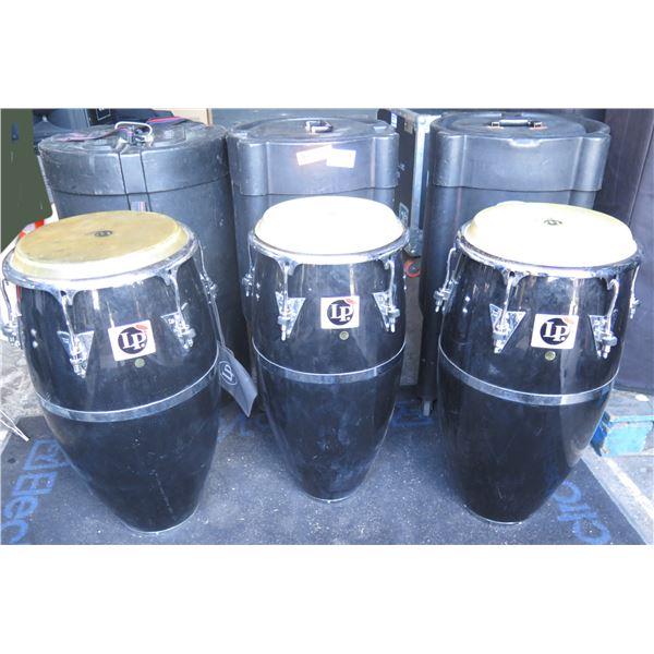 LP Patato Black Triple Conga Set of 3 - Conga, Tumba, Quinto