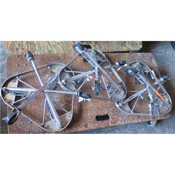Three LP Conga Stands w/ Locking Castors - Fully Adjustable