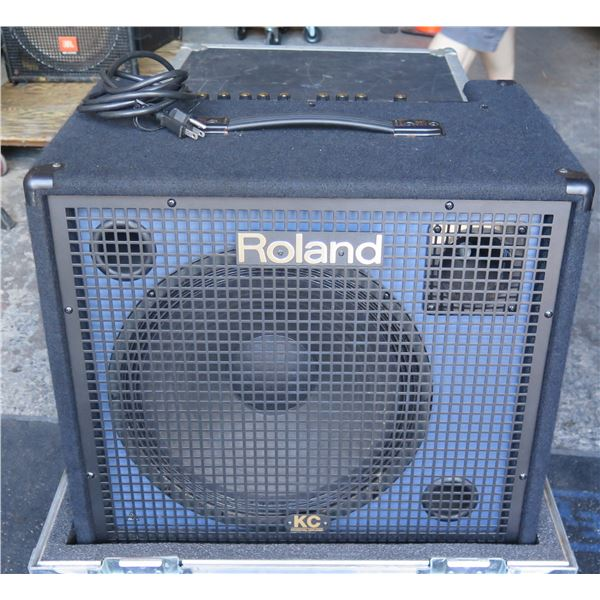 Roland KC550 Pro Multi Keyboard Amp,1 XLR Mic & 4 Stereo Inputs, Record Out -