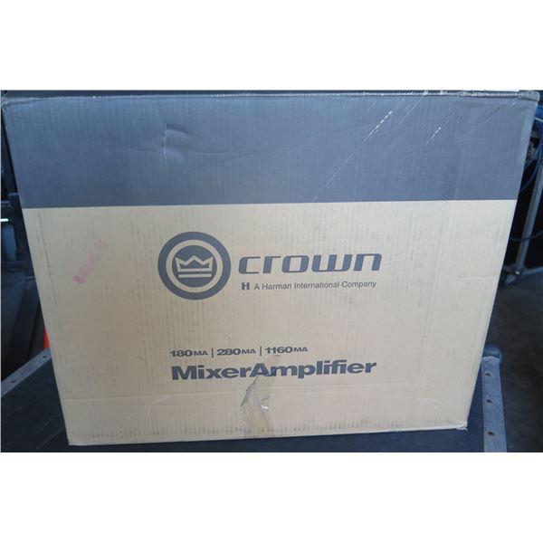 Crown G1160MA, 160 watt 70ohm or 8 ohm Operation w/ 4 Input Mixer/Amp New in Box