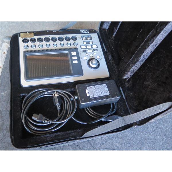 "QSC Touchmix 8, 8 XLR inputs-4 w/ 1/4"" Combo Plugs, 2-Stereo Inputs,"
