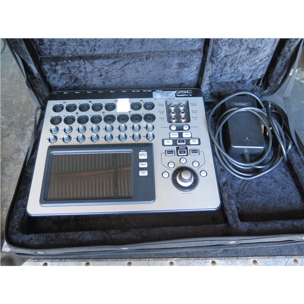 """QSC Touchmix 16 - 8 XLR in-4 w/ 1/4"""" Combo Plugs, 2-Stereo Inputs;  One DOA Input"""