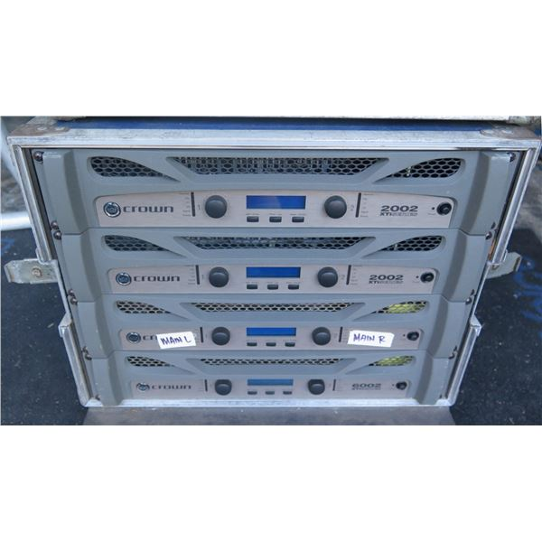 Crown Amp Rack - 4 Xti PowerAmps with Full DSP, Configured for Multiple Uses -