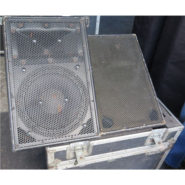 Pair of EAW SM122 Stage Monitors in ATA Case,  400 watts,  NL4 x 2 inputs