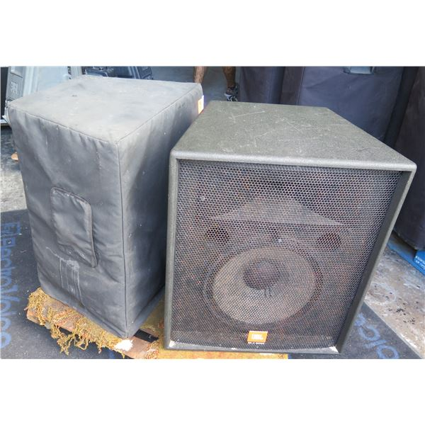 """JBL 4725X, 15"""" + 1"""" @ 400 watts each - Pole Mount with Covers"""