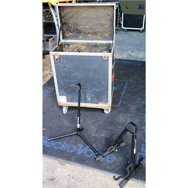 Rolling Case of Misc Guitar & Other Stands