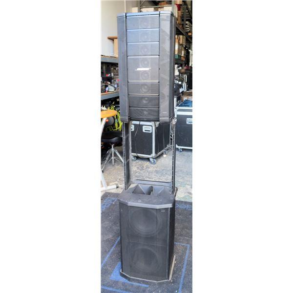 Demo: Bose Tower PA System,  F1 Top Module + F1 Bass Module, (Retail $3000)