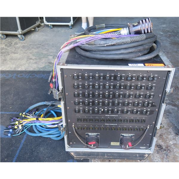 Whirlwind 52 Pair Splitter Panel w/ 3 - Outputs w/ Ground Lifts + 2 prewired taills - ATA