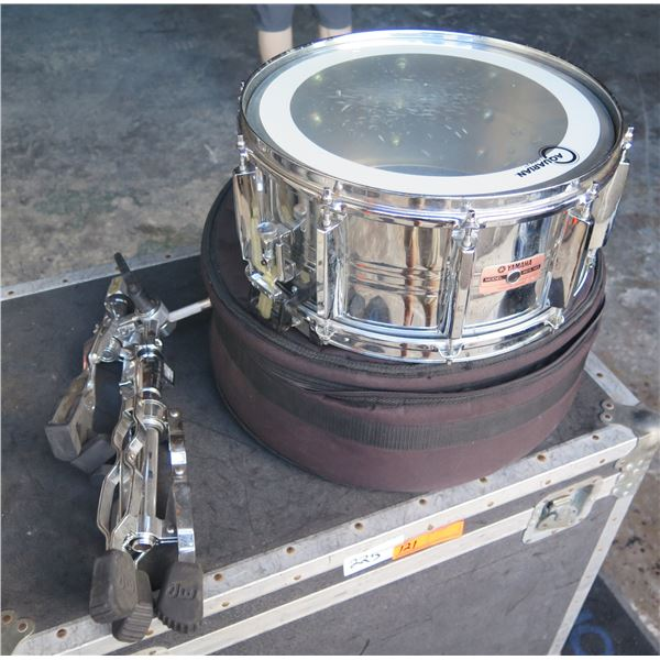 """Yamaha Chrome Deep Snare 14"""" with Snare Stand"""