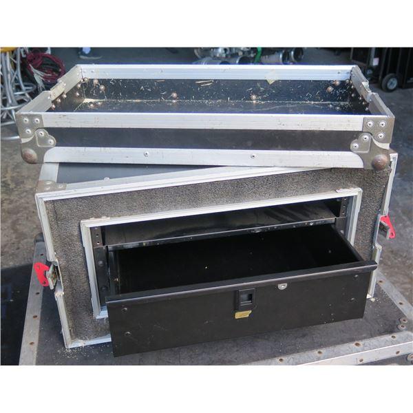 ATA 4 Space Shock Mount Rack w/ 3 Space Odyssey Storage Drawer