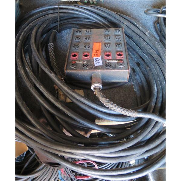 "Whirlwind 100' Powered Sn. 12 mic w/ 4 XLR Return & 2 Speaker Lines w/NL4 & 1/4"""