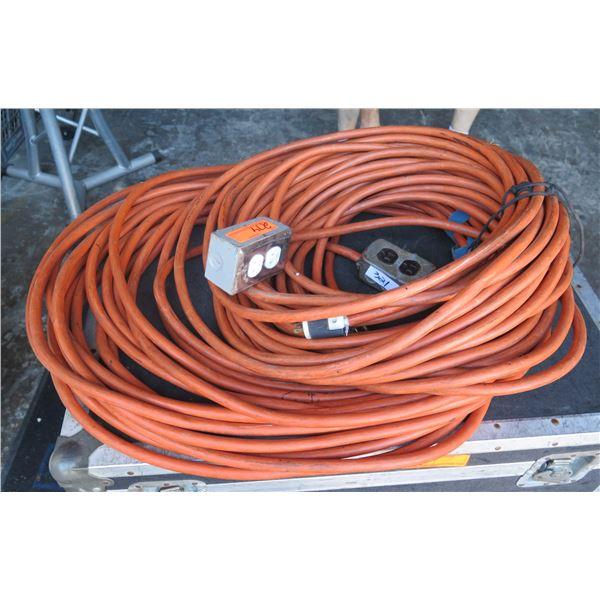 Qty 2 - 100' Orange AC Cables