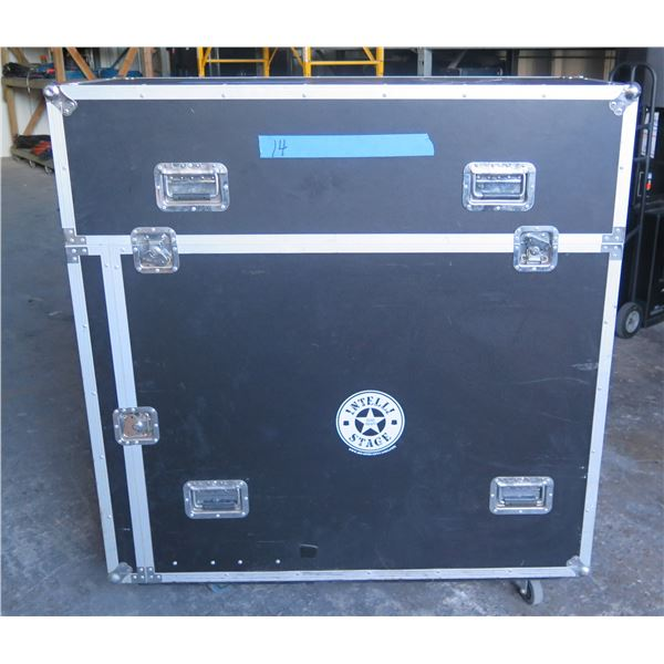 """Portable Stage System w/ Transportation Case - 6 Configurable 4' x 4' x 32"""" High Risers."""