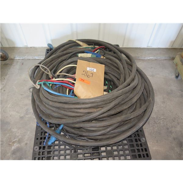Camlock Feeder Cables - 4 Conductor B, R, B, W & Long separate green to generator