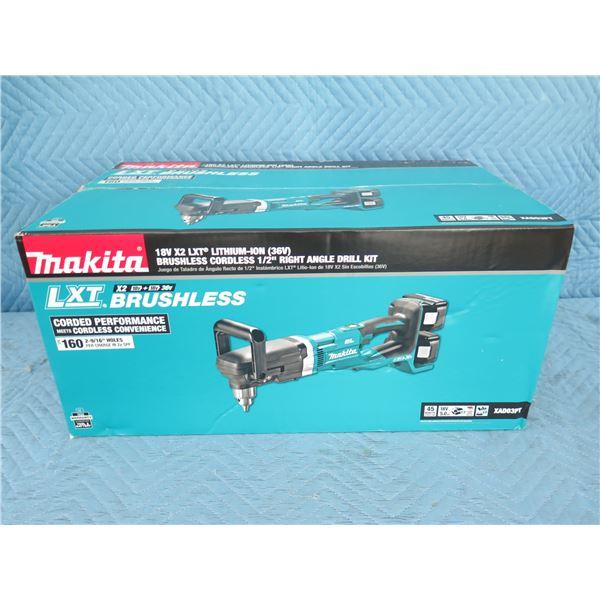 "Makita XAD03PT Right Angle Drill Kit 1/2"" 36V New in Box"