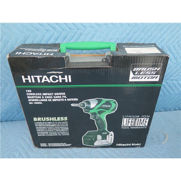 Hitachi WH18DBDL Cordless Impact Driver 18V New in Box
