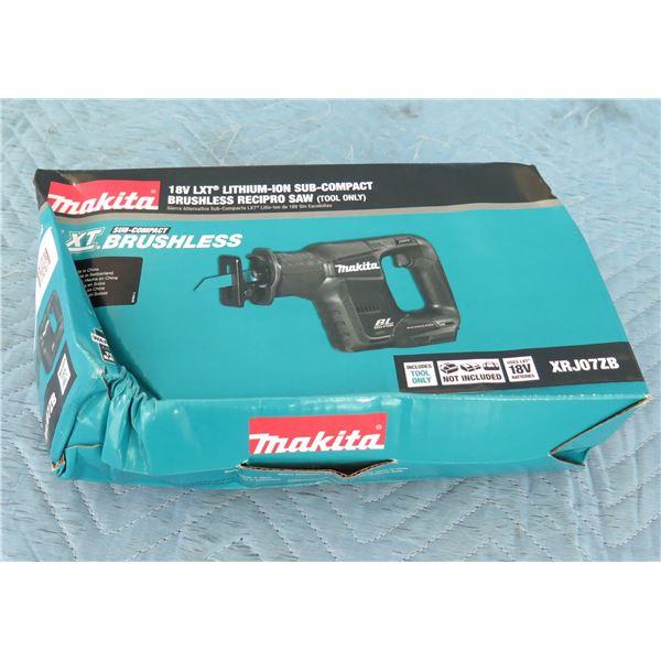 Makita XRJ07ZB Sub-Compact Recipro Saw LXT 18V (Tool Only) New in Box