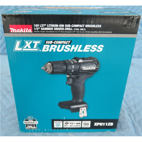 """Makita XPH11ZB Sub-Compact Hammer Driver-Drill 1/2"""" (Tool Only) New in Box"""