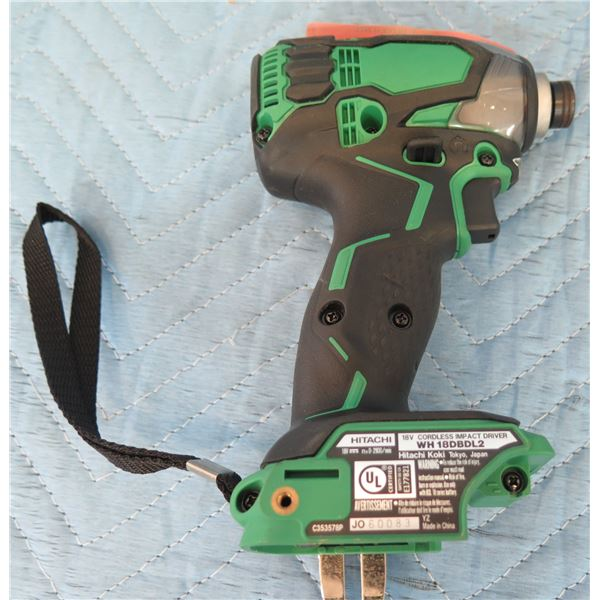 Hitachi WH18DBDL2 Cordless Impact Driver (Tool Only)