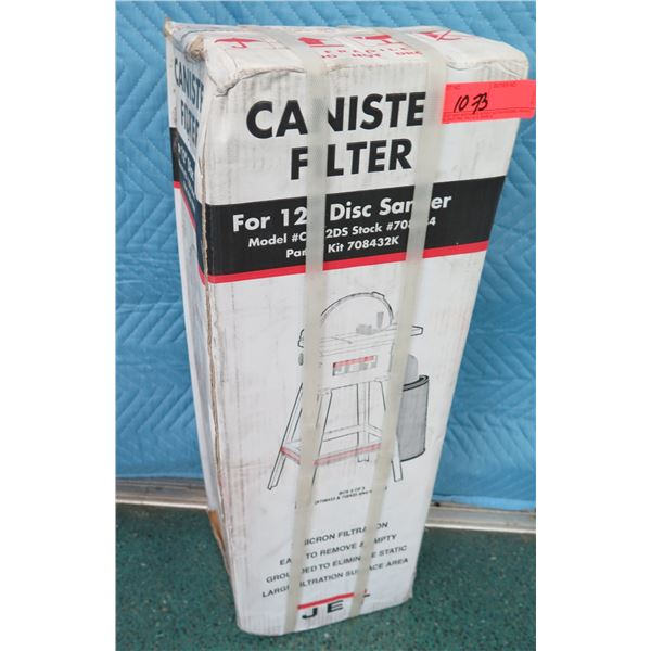 """JET CF-12DS Canister Filter for 12"""" Disc Sander New in Box"""