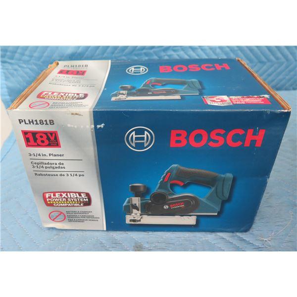 """Bosch PLH181B Planer 3-1/4"""" 18V New in Box"""
