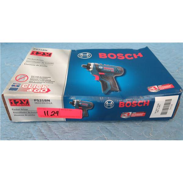 Bosch PS21BN Pocket Driver 12V New in Box