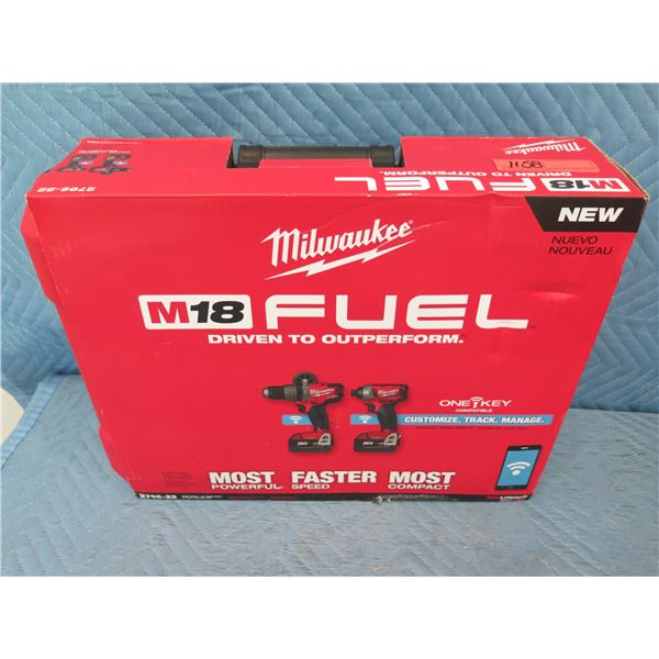 Milwaukee 2796-22 M18 Fuel w/ One-Key 2-Tool Combo Kit New in Box
