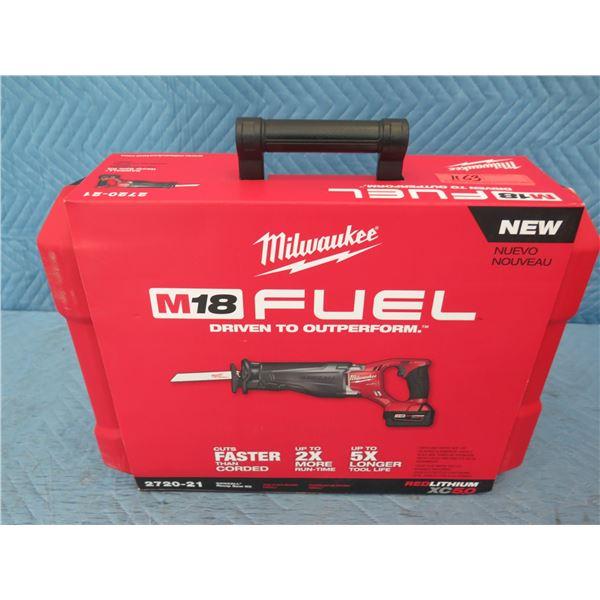 Milwaukee 2720-21 M18 Fuel Sawzall Reciprocating Saw Kit New in Box
