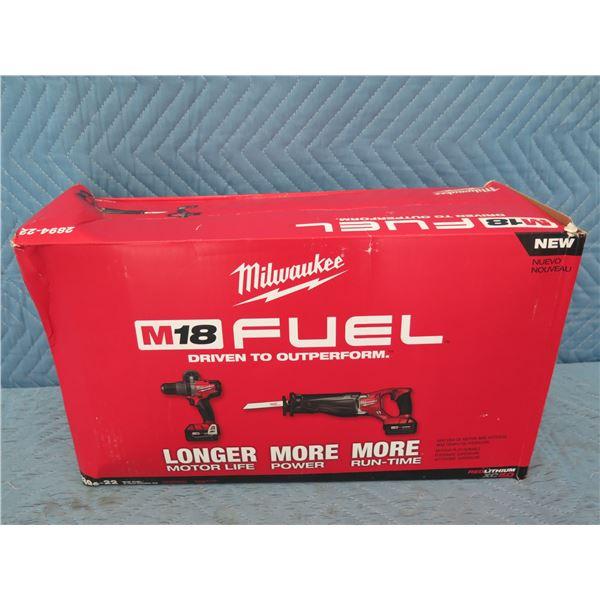 Milwaukee 2894-22 M18 Fuel 2-Tool Combo Kit New in Box
