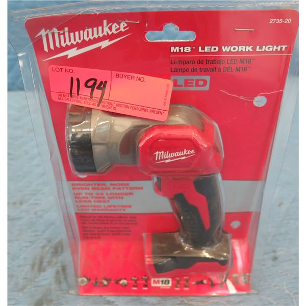 Milwaukee 2735-20 M18 LED Work Light New in Package
