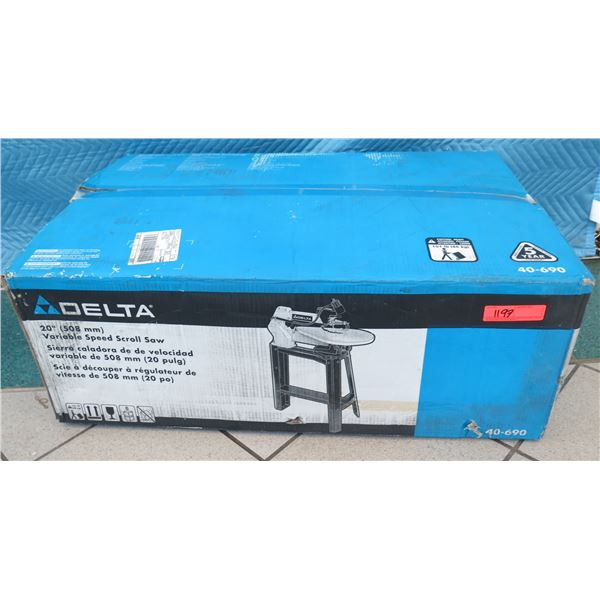 """Delta 40-690 Variable Speed Scroll Saw 20"""" New in Box"""