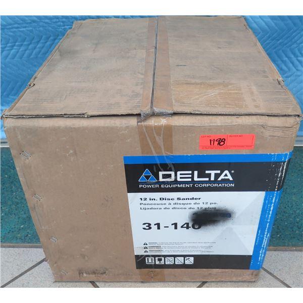 """Delta 31-140 Disc Sander 12"""" New in Box"""