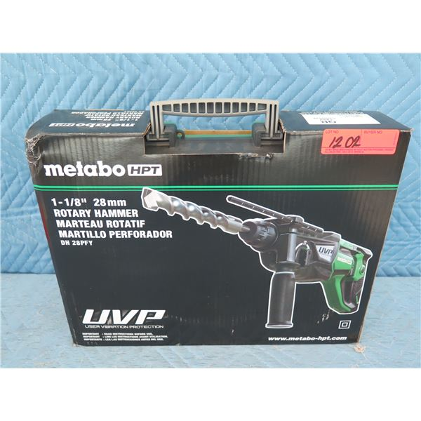 """Hitachi Metabo DH28PFY Rotary Hammer 1-1/8"""" New in Box"""