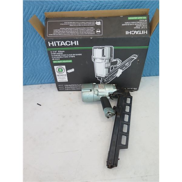 "Hitachi NR83A3 Round Head Strip Nailer 3-1/4"" (Returned Item)"