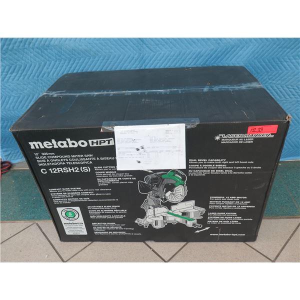 """Hitachi Metabo HPT C12RSH2(S) Slide Compound Miter Saw 12""""  (Returned Item)"""