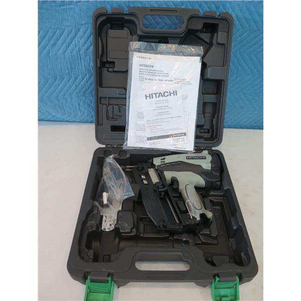 "Hitachi NT65GB Gas Finish Nailer 2-1/2"" in Hard Case (Returned Item)"