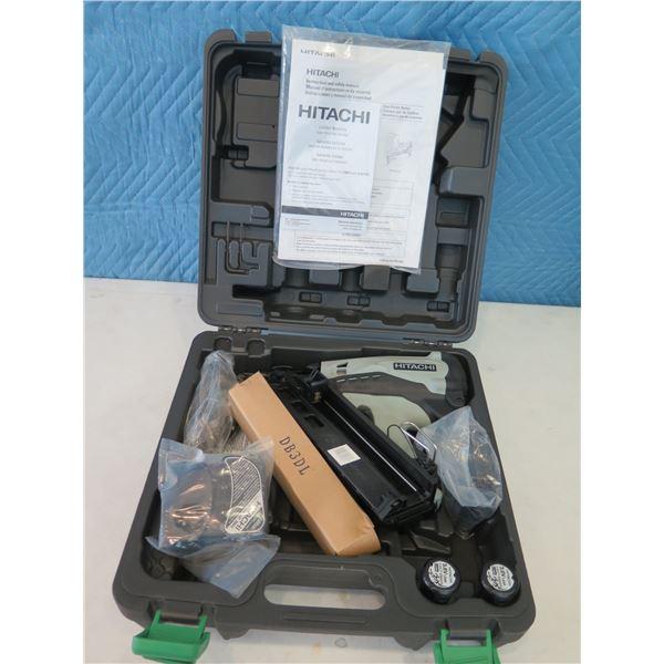 "Hitachi NT65GA Gas Finish Nailer 2-1/2"" in Hard Case (Returned Item)"