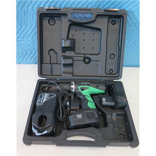 Hitachi DS18DVC Cordless Drill Driver 18V in Hard Case  (Returned Item)