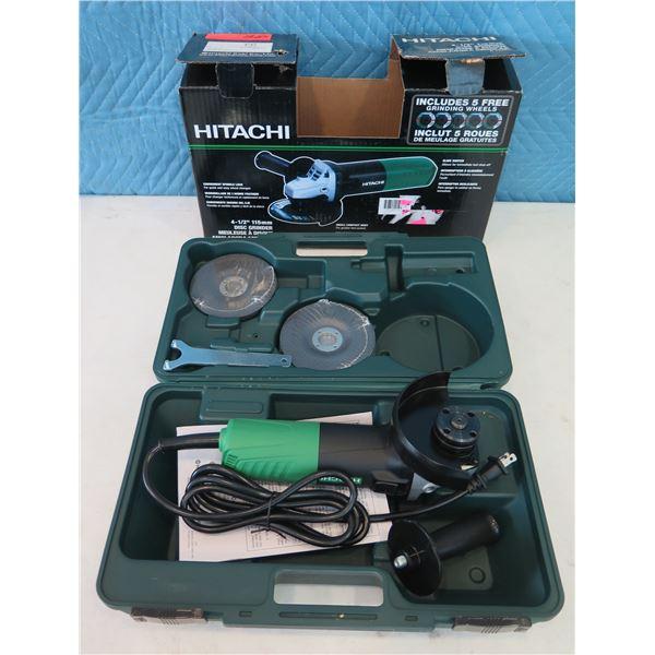 """Hitachi G12SR4 Disc Grinder 4-1/2"""" in Hard Case  (Returned Item)"""